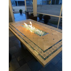 Custom Made Mosaic Fire Pit Dining Tables