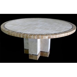 Key Largo Stone Tile Dining Table