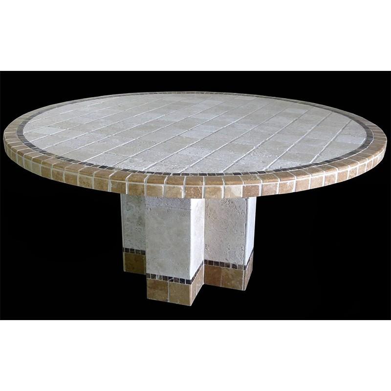 Key Largo Stone Tile Dining Table