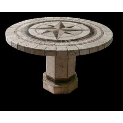 Compass Round Stone Tile...
