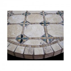 Clarien Mosaic Table Top - Side View