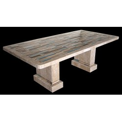 Aqua Stone Tile Dining Table