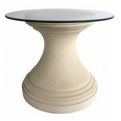 Round Limestone Dining Table Base