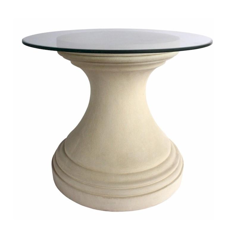Round Limestone Dining Table Base