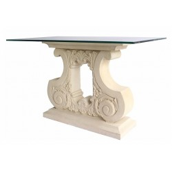 Scroll Limestone Dining Table Base