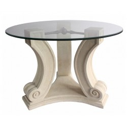 Regency Limestone Dining Table Base -Side View