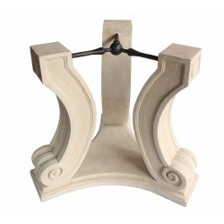 Regency Limestone Dining Table Base - No Glass Top