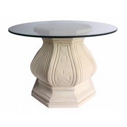 Octagonal Limestone Dining Table Base
