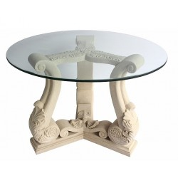 Fleur Limestone Dining Table Base