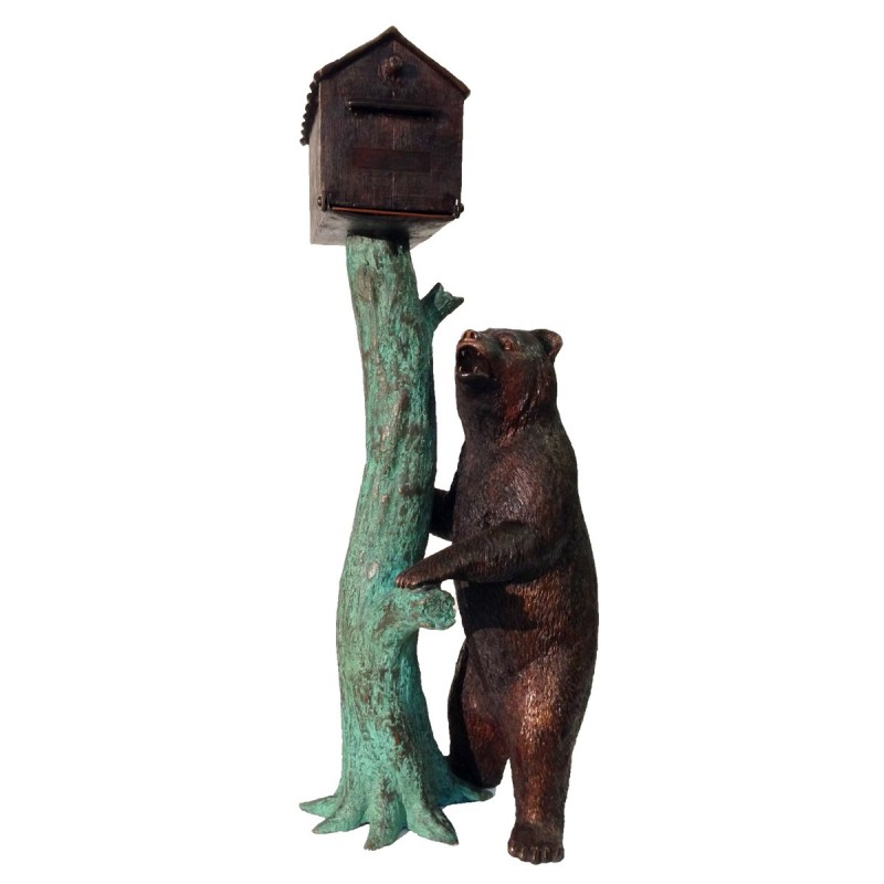 Bronze Bear Mailbox
