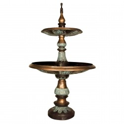 Bronze Elegant Leaf Tier Fountain