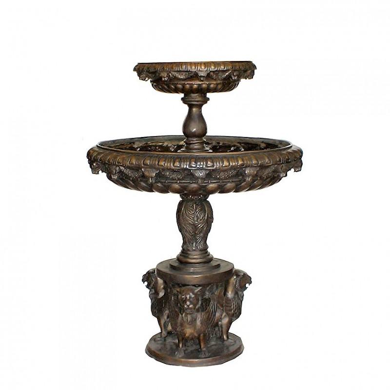 Bronze Lion Tier Fountain