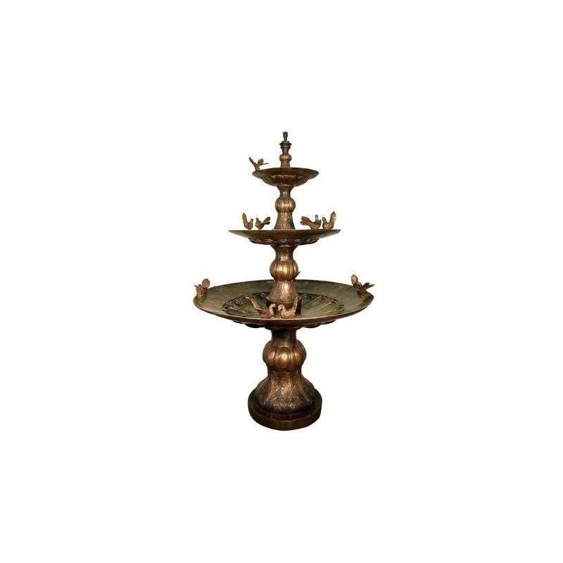 Bronze Twelve Birds Tier Fountain