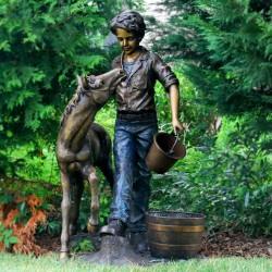 Bronze Boy with Pony...