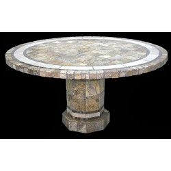 Rio Mosaic Table Top - Shown with Optional Matching Roma Table Base