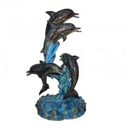 Bronze Five Dolphins Fountain Sculpture