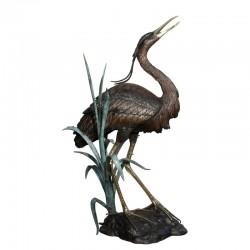 Bronze Heron Fountain Sculpture