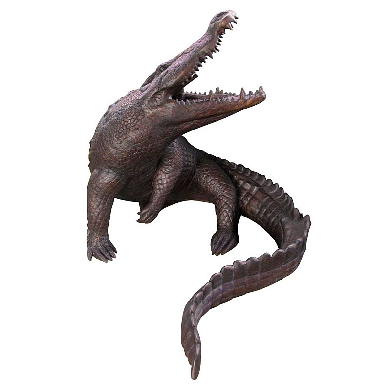 Bronze Large Crocodile Fountain Sculpture