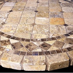Vineyard Mosaic Table Top - Shown Closeup