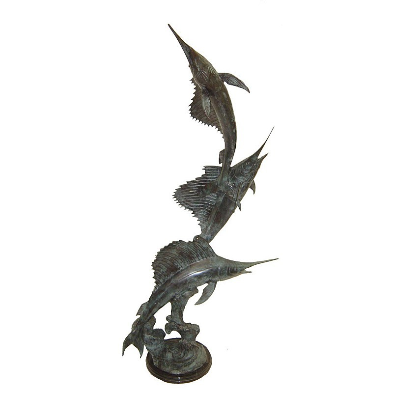 Bronze Sailfish Fountain Sculpture