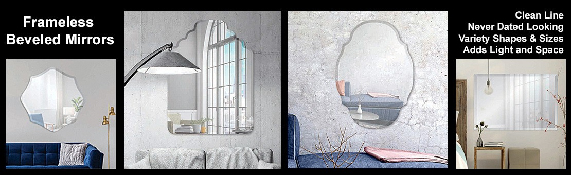 Frameless Beveled Mirrors